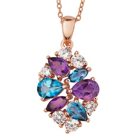 Amethyst & Blue Topaz Necklace