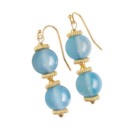 Signature Chalcedony Earrings