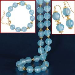 Signature Chalcedony Necklace, Bracelet & Earrings Set