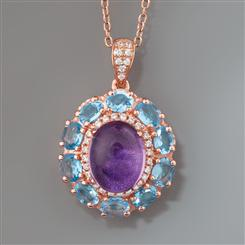 Amethyst & Blue Topaz Happiness Necklace