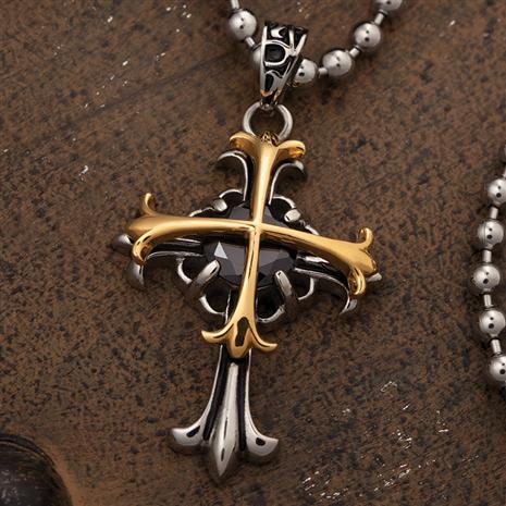 Onyx Celtic Cross Pendant