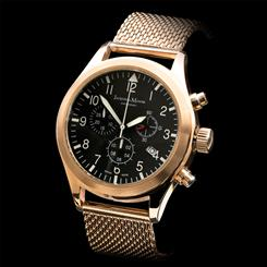 Swiss-Made Jacques Du Manoir Rose Gold-Finished Stainless Steel Chronograph