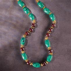 Nefertiti Chrysocolla & Garnet Necklace