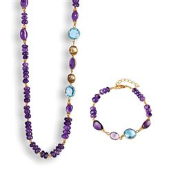 Amethyst & Blue Topaz Sugarplum Collection