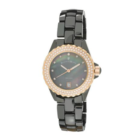 Swiss-Made Jacques du Manoir Women's Ceramic Watch