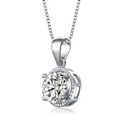 Sterling Silver Solitaire Pendant