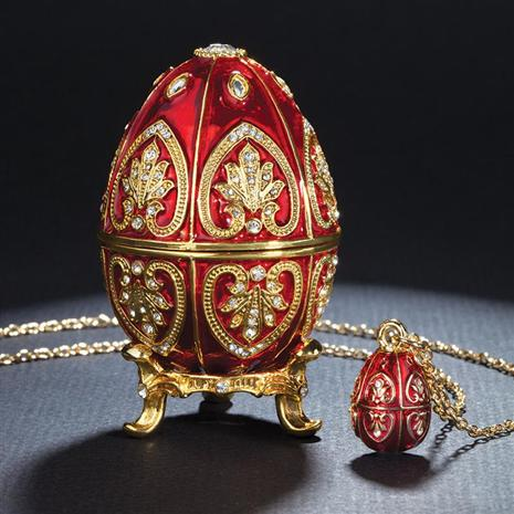 Red Valentina Egg & Necklace