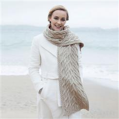 Multi-cable Scarf (Oatmeal Grey)