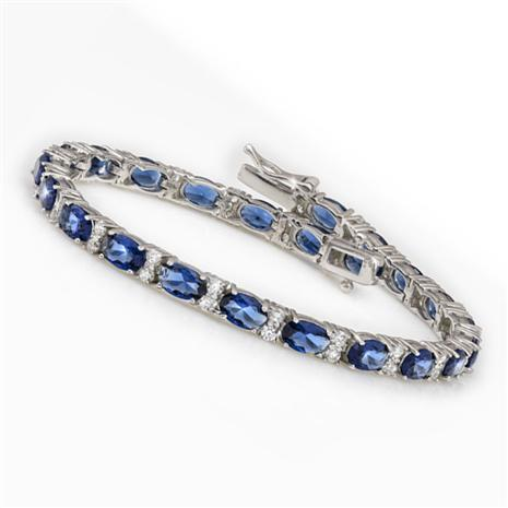 Blue Destiny Tennis Bracelet