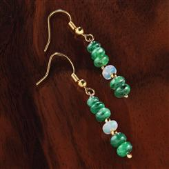 Emerald & Opal Promise Earrings