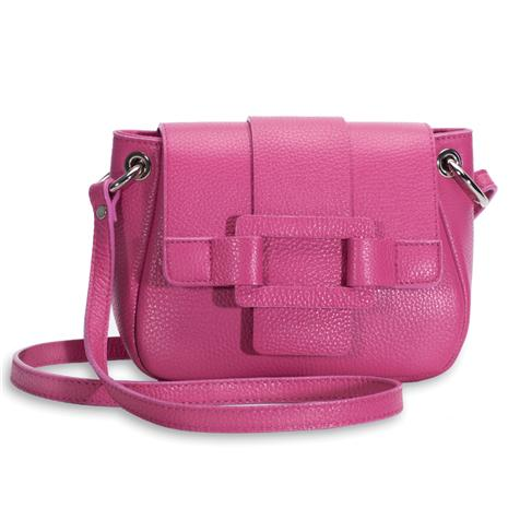 Allegra Italian Leather Handbag (Raspberry)