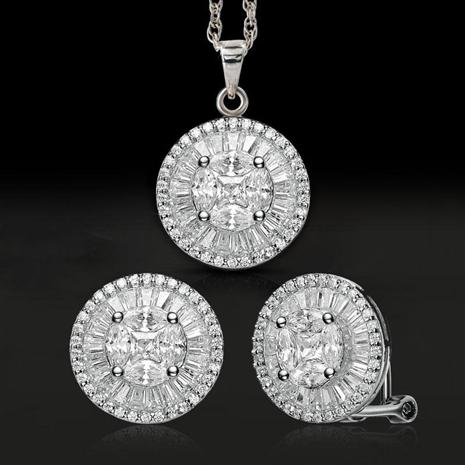 Fancy Cut Pendant, Earrings & Chain
