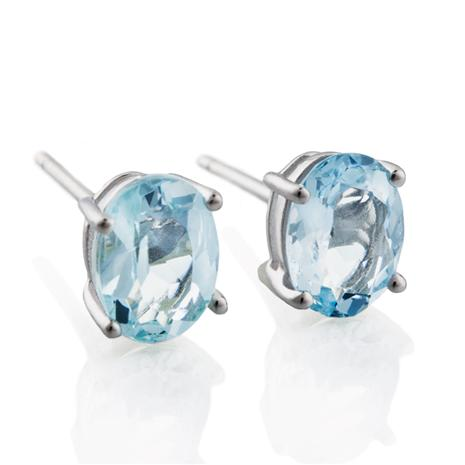 Aquamarine Storm Earrings