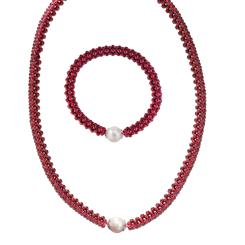 Affinity Garnet Collection Necklace & Bracelet