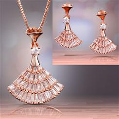 Pirouette Necklace and Earrings