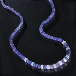 Spirit of Africa Tanzanite & Opal Necklace (90 ctw)
