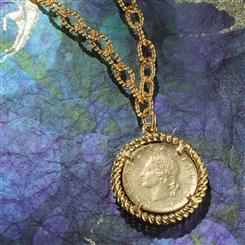 "Republica Italia Coin  20"" Necklace"