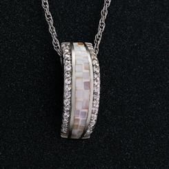 Mother of  Pearl Mosaic Necklace