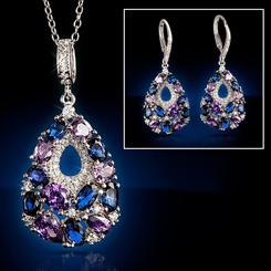 Sparkle Teardrop Collection (Necklace and Earrings)