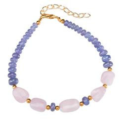 Tanzanite & Morganite Lost Safar Bracelet
