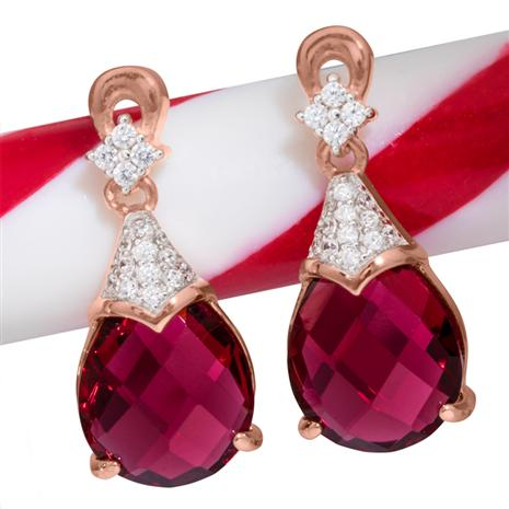 Gala Drop Earrings (Ruby Red)