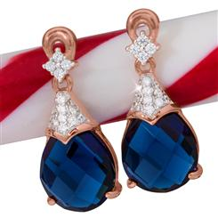 Gala Drop Earrings (Sapphire Blue)