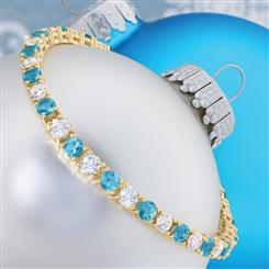 Tennis Blues Bracelet