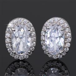 DiamondAura Halo Earrings