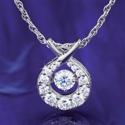 Dancing Sparkle DiamondAura Pendant
