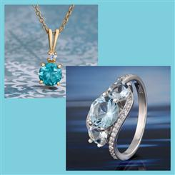 Aquamarine Voyager Ring and Free Pendant