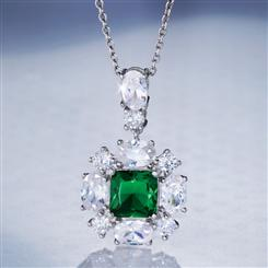 Red Carpet Green DiamondAura Pendant