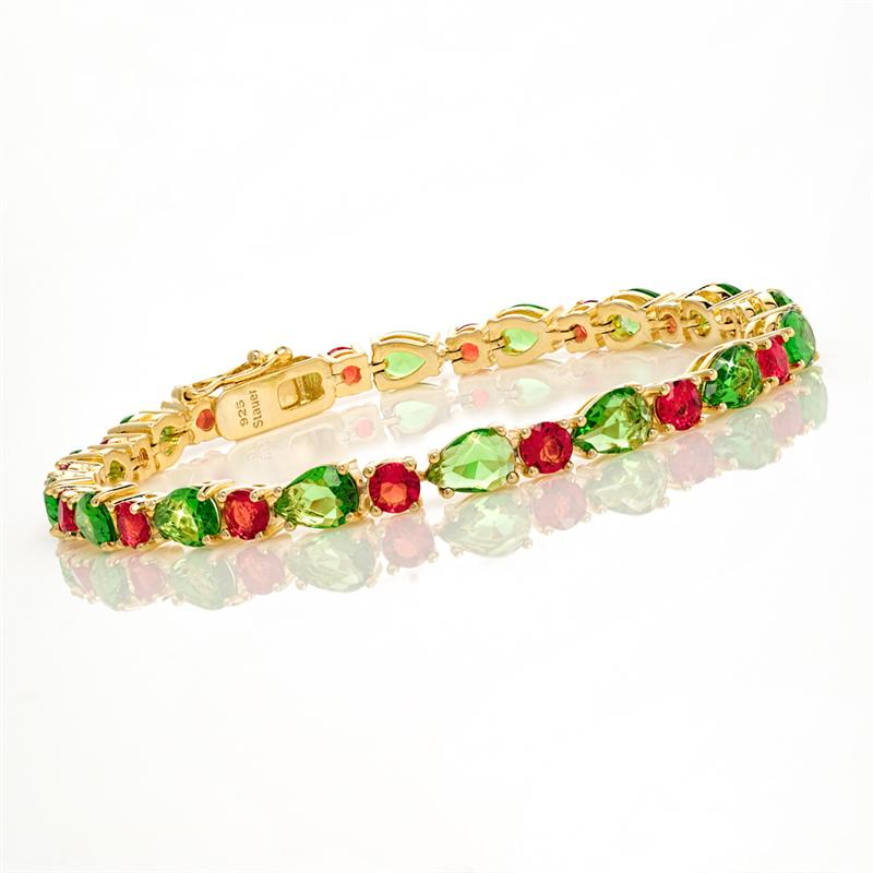 Green & Red Helenite Bracelet