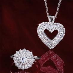 Floretta DiamondAura Ring plus FREE Sweetheart DiamondAura Pendant