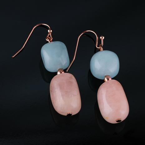Morganite Good Luck Earrings