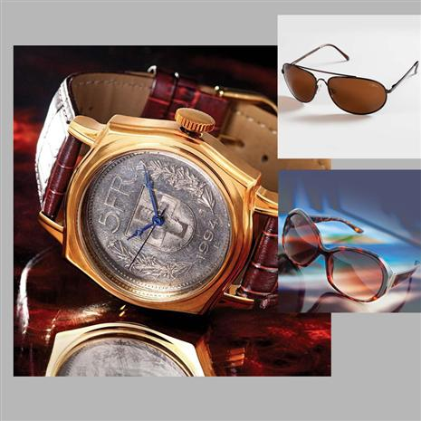 Stauer Zurich Swiss Franc Watch and Sunglasses