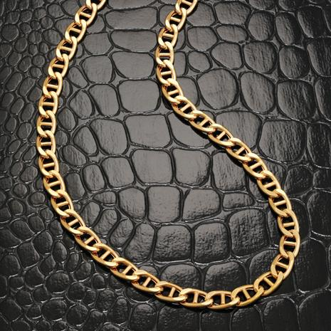 "Men's 10K Gold Figaro Chain 20"" Necklace"