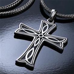 Mens Constantine Cross Pendant and Chain