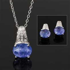 Tanzanite Celebration Collection (Pendant Chain and Earrings)