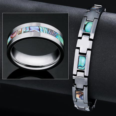 Mens Viking Tungsten Collection (Ring & Bracelet)