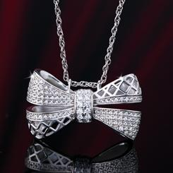 Bow Tie Pendant and Chain