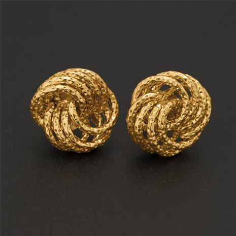14K Italian Gold Rosetta Stud Earrings