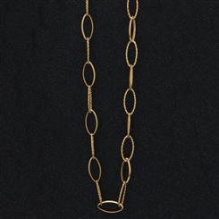 Italia 14K Gold Oval Cable Necklace