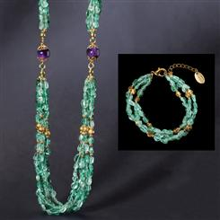 Apatite & Amethyst Connoisseurs Collection - Necklace & Bracelet