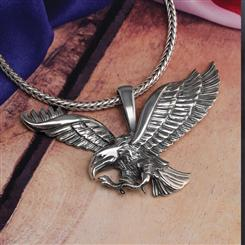 Freedom Soars Eagle Pendant & Chain