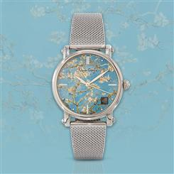 Van Gogh Masterpiece Swiss Movement Watch Almond Blossoms