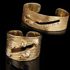 Cutaway Diamond Ring and Cuff Set