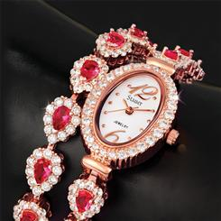 Drop Red Gorgeous Wrap-Around Watch