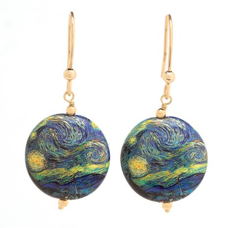 Starry Night Murano  Earrings