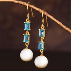 Gem & Pearl Earrings