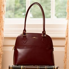 Italian Specchio Leather Handbag (Chianti)